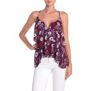 19 Cooper Women's Floral Sleeveless Swing Blouse S